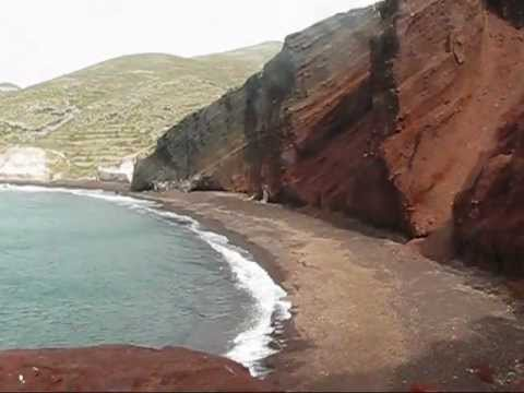 One of the most impressive beaches in Santorini, the Red beach.