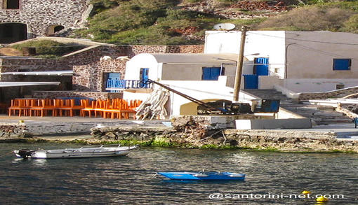 Traditional buildings in Ammoudi port