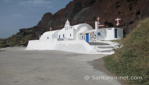 Agios Nikolaos or St.Nickolas church in red beach - Akrotiri