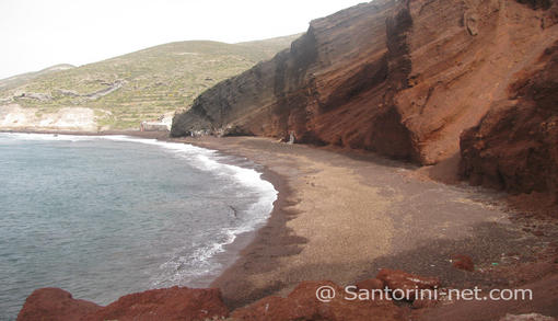A unique beach that you're not going to see anywhere else. Red Beach Santorini