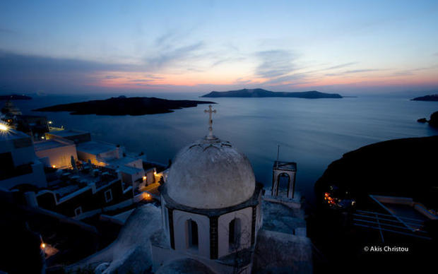 Santorini magic, twilight zone, excellent colors
