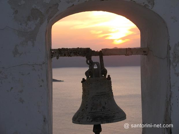 Sunset through a belfry