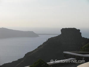 Skaros rock in Imerovigli Santorini, the highest point of the island